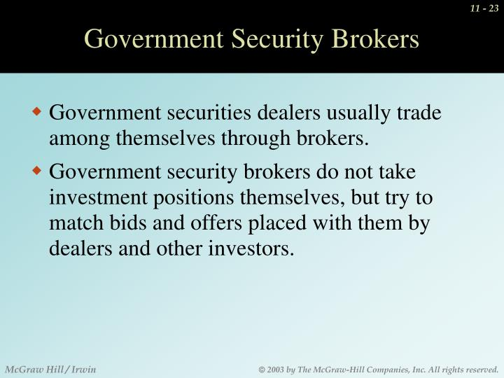 Government Security Brokers