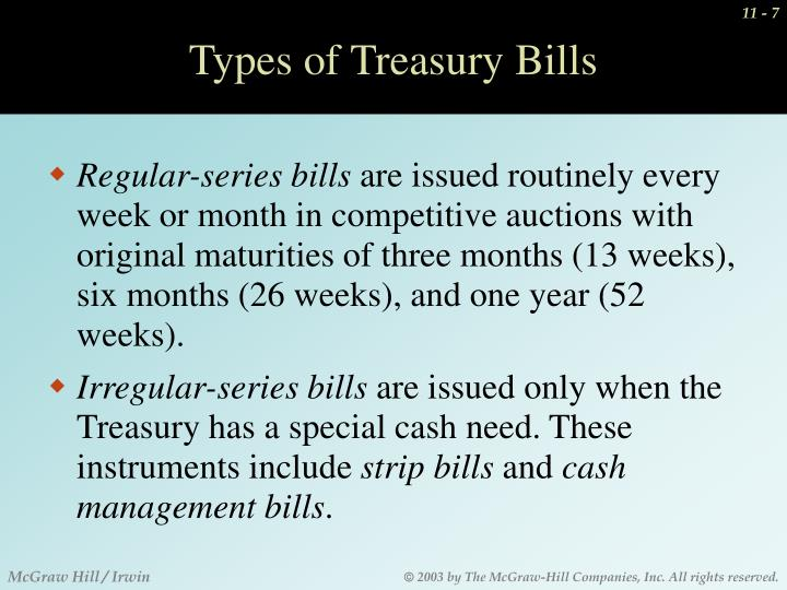Types of Treasury Bills