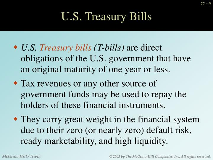 U.S. Treasury Bills
