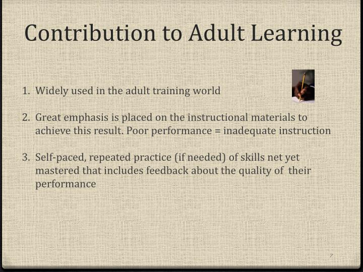 Contribution to Adult Learning
