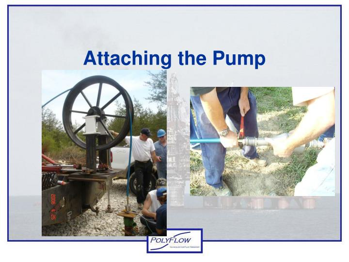 Attaching the Pump