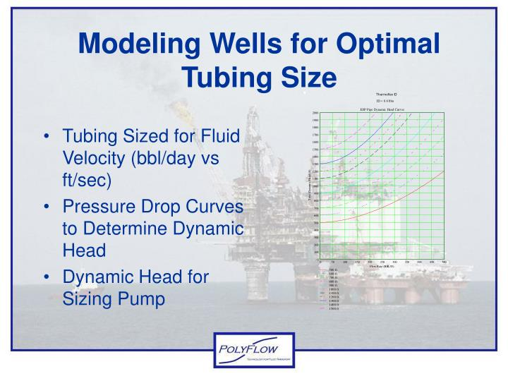Modeling Wells for Optimal Tubing Size