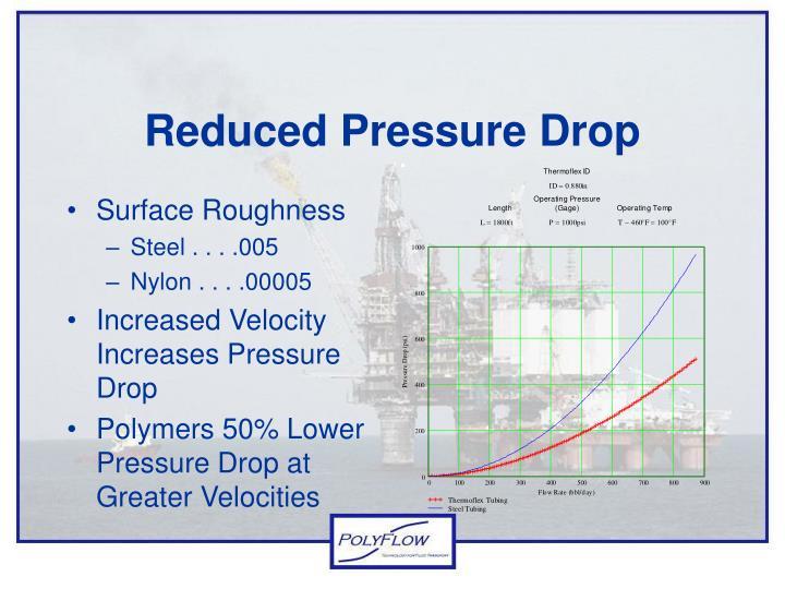 Reduced Pressure Drop