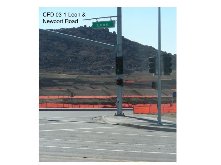 CFD 03-1 Leon & Newport Road