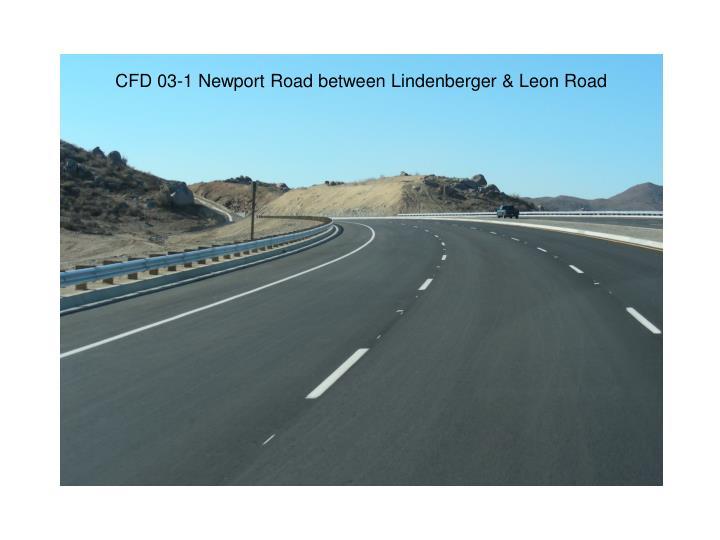 CFD 03-1 Newport Road between Lindenberger & Leon Road