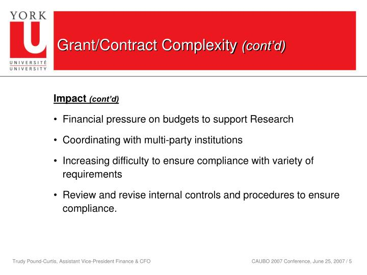 Grant/Contract Complexity
