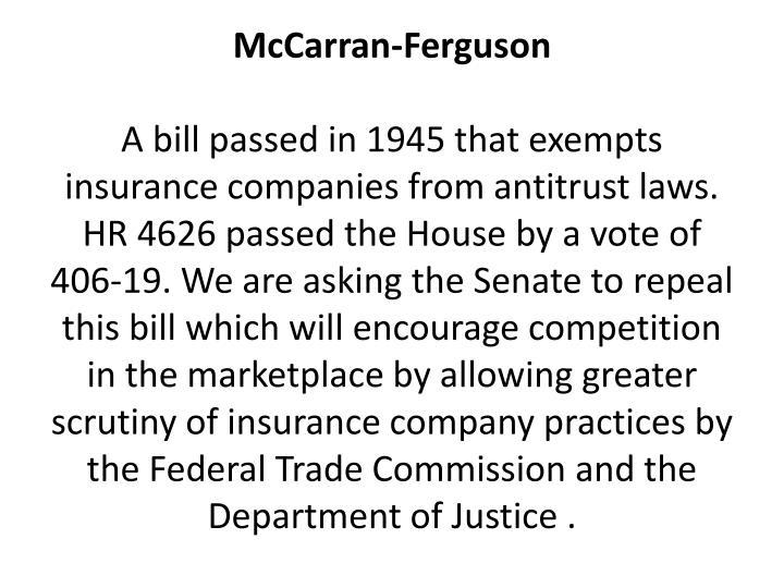 McCarran-Ferguson