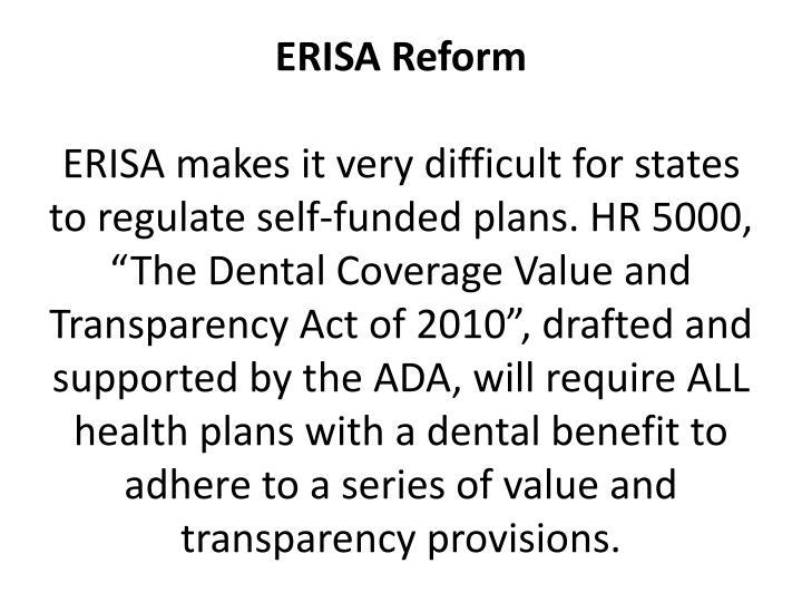 ERISA Reform