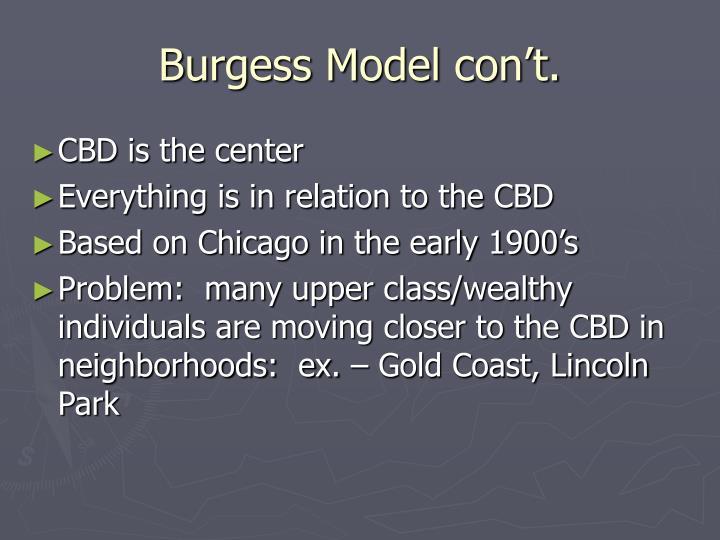 Burgess Model con't.