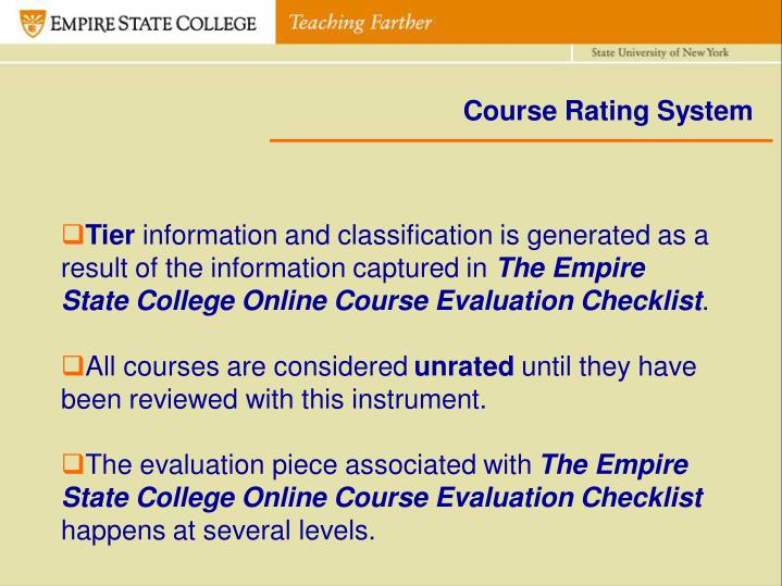 Course Rating System