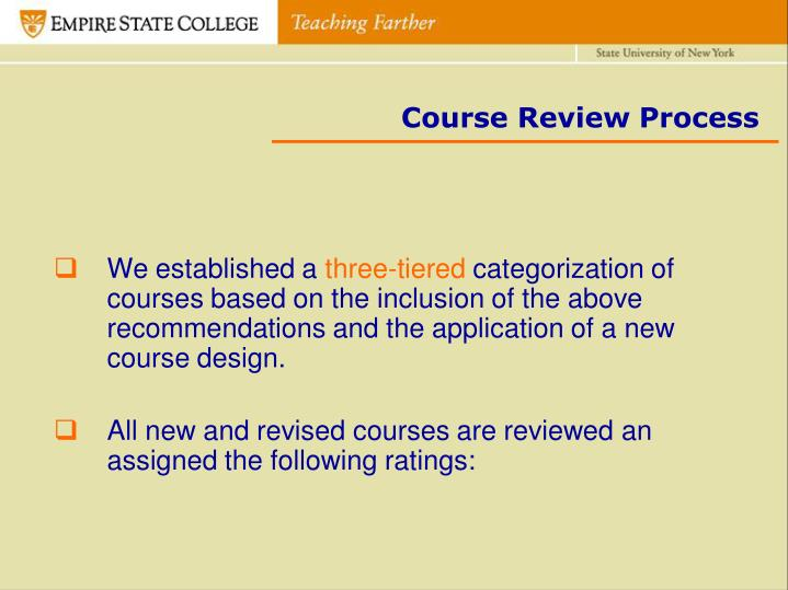 Course Review Process