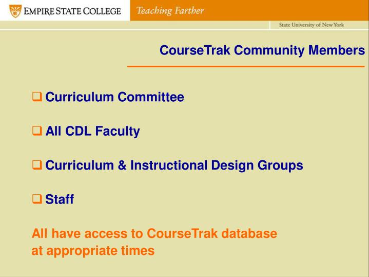 CourseTrak Community Members