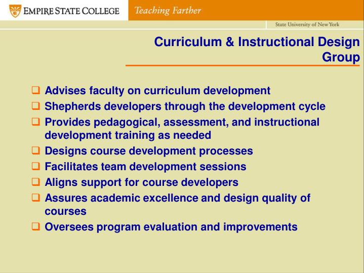 Curriculum & Instructional Design Group