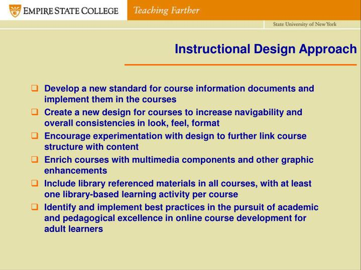 Instructional Design Approach