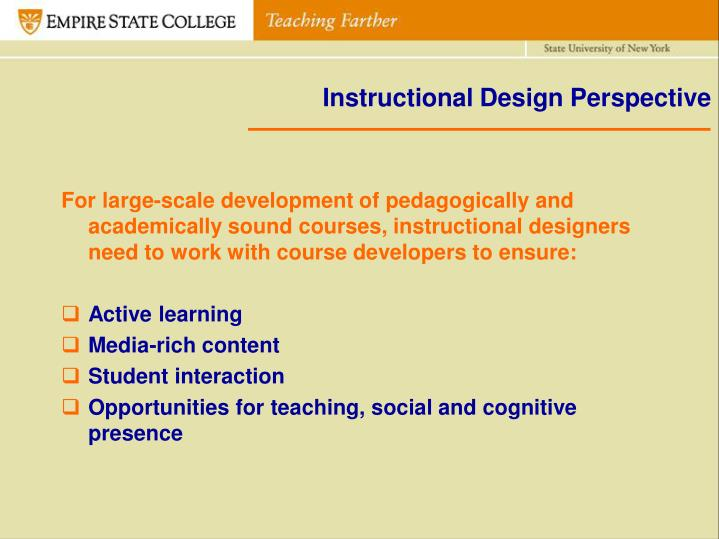 Instructional Design Perspective