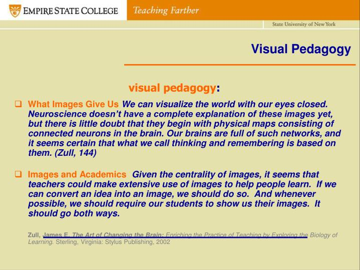 Visual Pedagogy