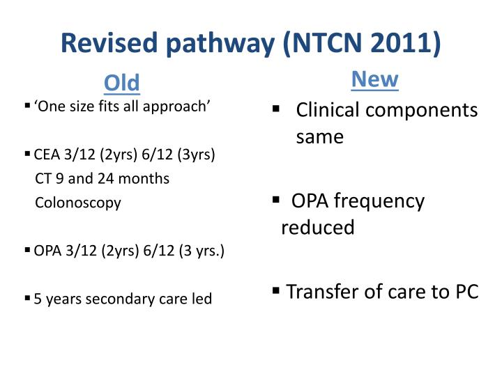 Revised pathway (NTCN 2011)