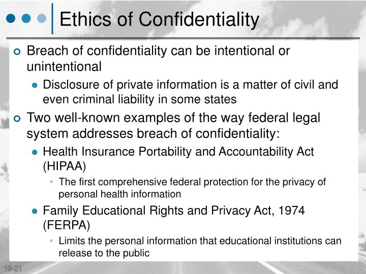 Ethics of Confidentiality