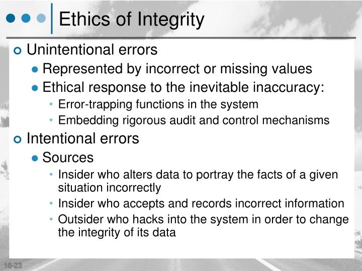 Ethics of Integrity