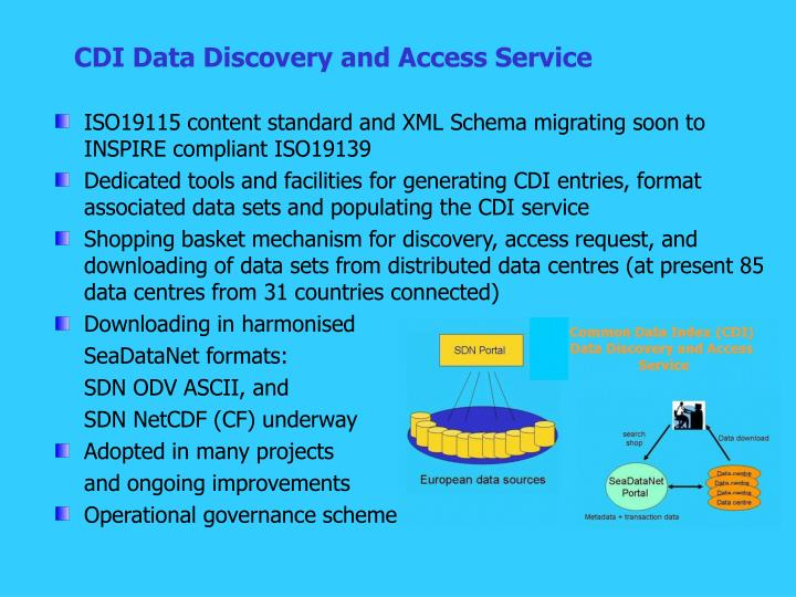 CDI Data Discovery and Access Service
