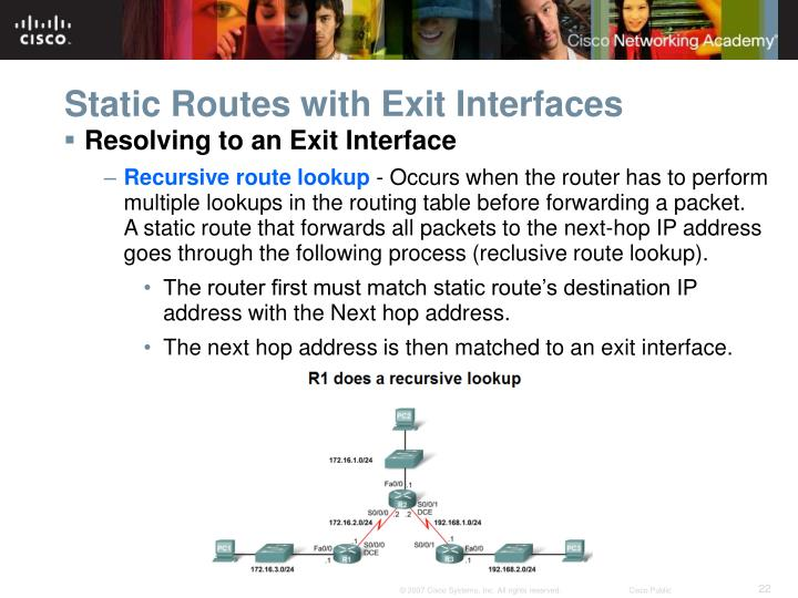 Static Routes with Exit Interfaces