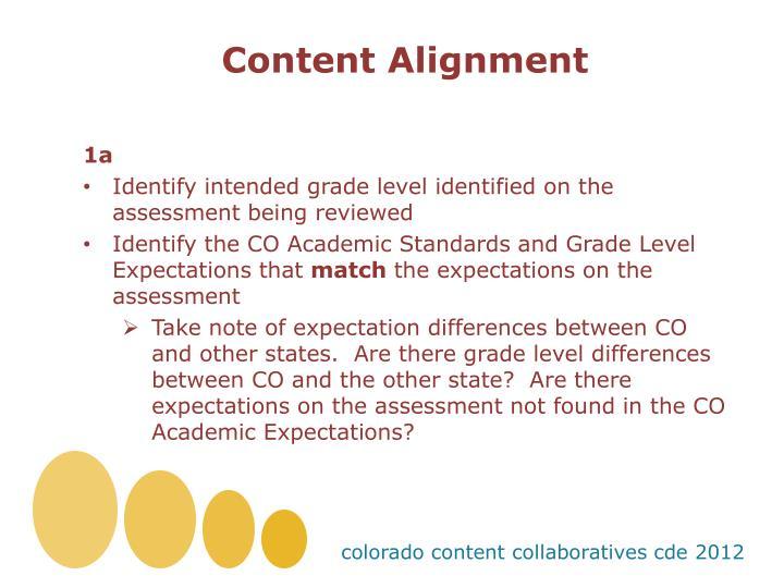 Content Alignment
