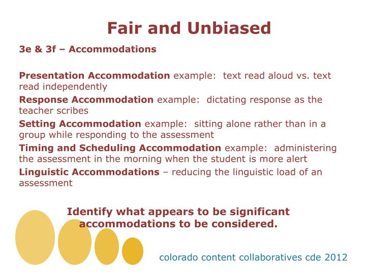Fair and Unbiased