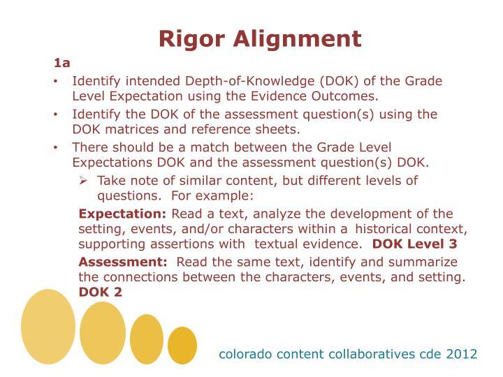 Rigor Alignment