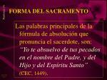 forma del sacramento