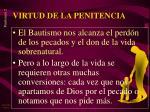 virtud de la penitencia