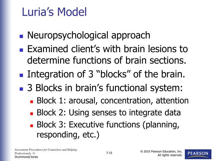 Neuropsychological approach