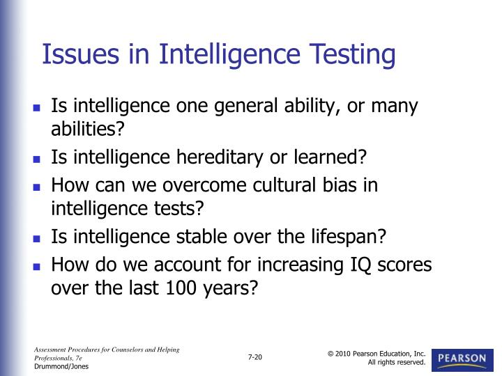 Is intelligence one general ability, or many abilities?