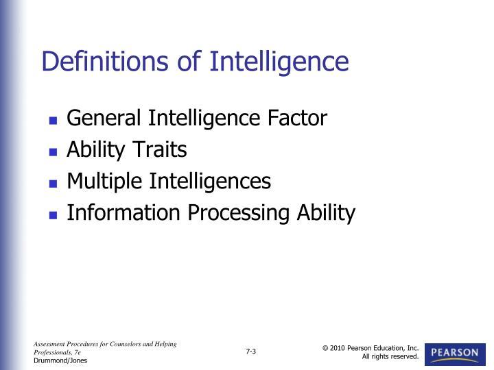 General Intelligence Factor