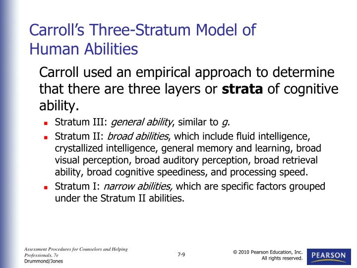 Carroll used an empirical approach to determine that there are three layers or