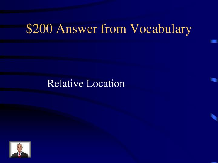 $200 Answer from