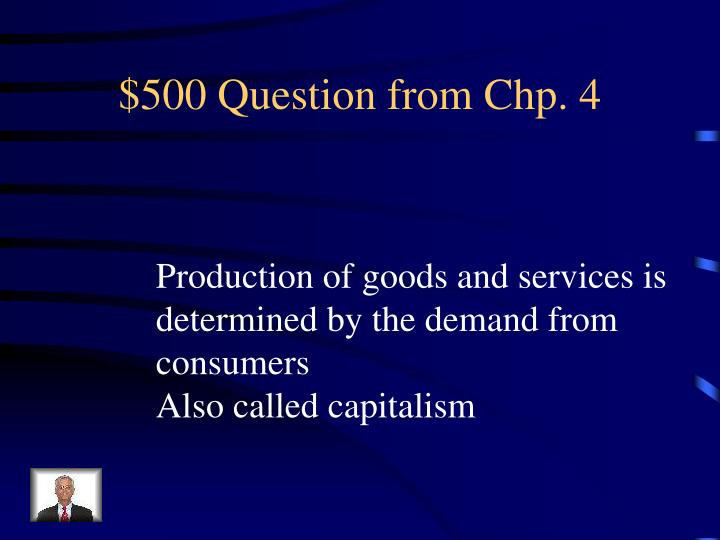 $500 Question from