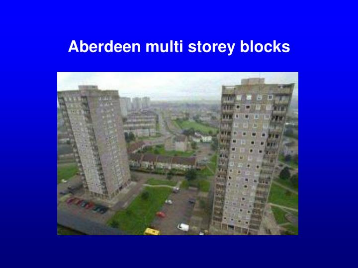 Aberdeen multi storey blocks