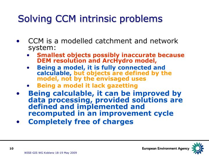 Solving CCM intrinsic problems