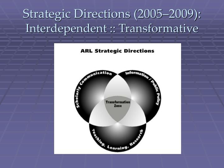 Strategic Directions (2005–2009):