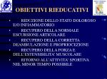 obiettivi rieducativi