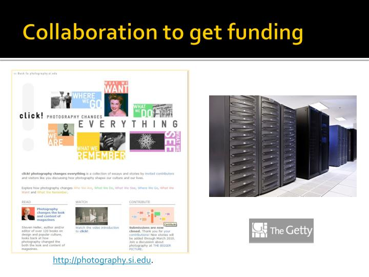 Collaboration to get funding