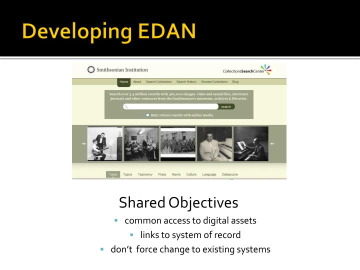 Developing EDAN