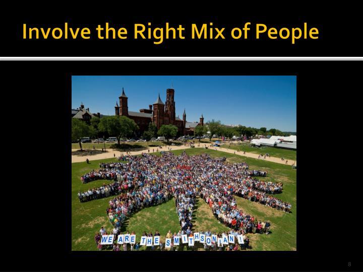 Involve the Right Mix of People