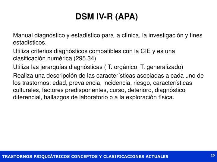 DSM IV-R (APA)