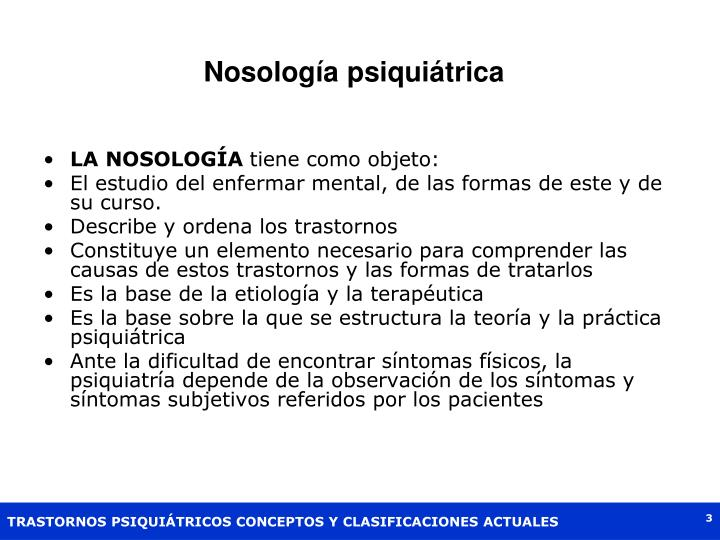 Nosología psiquiátrica