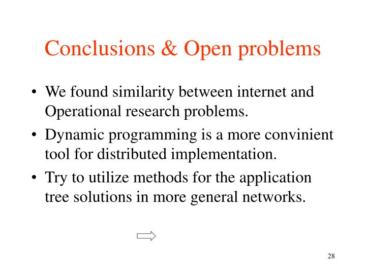 Conclusions & Open problems