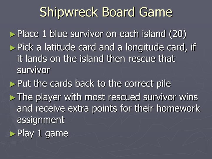 Shipwreck Board Game
