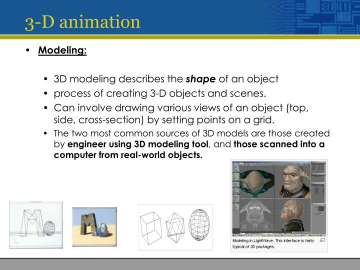 3-D animation