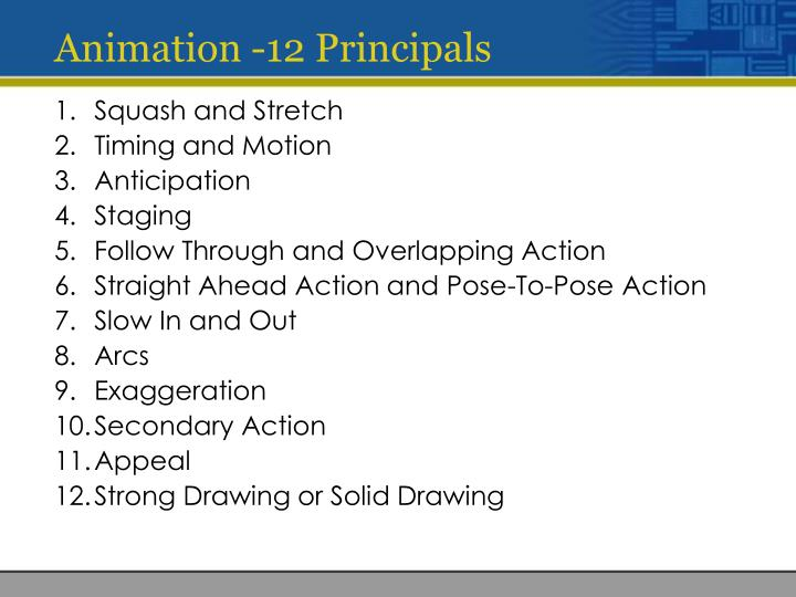 Animation -12 Principals