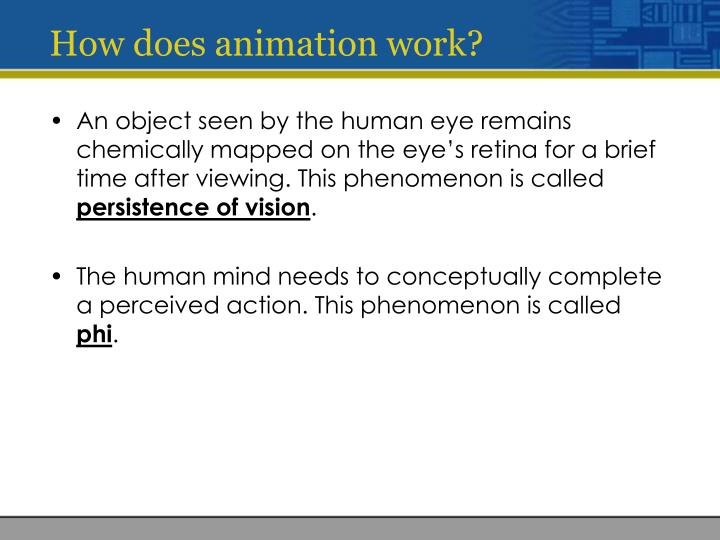 How does animation work?